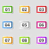Tabs with Numbers Royalty Free Stock Photo
