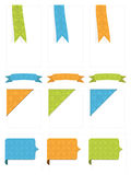Tabs and ribbons Stock Photos