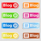 Tabs for your blog Stock Image