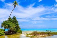 Tabuaeran, Wachluje wyspę, republika Kiribati Obrazy Stock