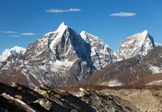 Tabuche peak, Cholatse and Arakam Tse Stock Photos