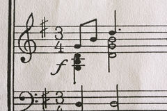 Tabulaciones de la música Fotos de archivo libres de regalías