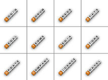 Tabulaciones del Web site Foto de archivo libre de regalías