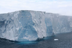 Tabular iceberg in Antarctic Sea Royalty Free Stock Images
