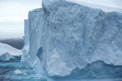 Tabular Iceberg Antarctica Stock Photography
