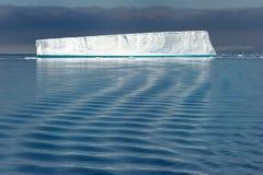 Tabular tempanos in the Antarctic peninsula. stock photography