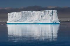 Tabular tempanos in the Antarctic peninsula. stock image