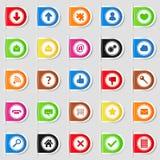 Tabulazione con le icone Fotografia Stock