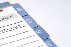Tabulazione dell'elenco telefonico immagine stock
