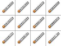 Tabulazione di Web site Fotografie Stock