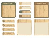 Tabulazione e caselle di testo di legno Immagini Stock Libere da Diritti