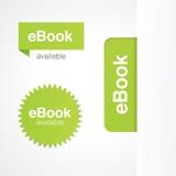 Tabulazione ed autoadesivi di EBook Fotografia Stock Libera da Diritti