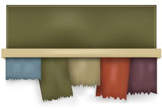 Tabulazione violente maglia orizzontale di gradiente Fotografie Stock Libere da Diritti