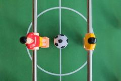 Tabule el partido de fútbol Imagen de archivo libre de regalías