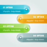 Tabule infographic avec quatre options Photo libre de droits