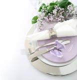 Tabule la decoración en lila Fotografía de archivo libre de regalías
