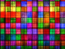 Tabuleiro de xadrez colorido de Grunge Imagens de Stock