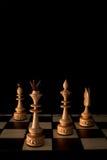 Tabuleiro de xadrez com partes Foto de Stock