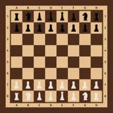 Tabuleiro de xadrez com partes de xadrez ilustração royalty free