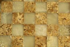 Tabuleiro de xadrez de mármore imagens de stock