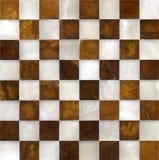 Tabuleiro de xadrez de mármore Foto de Stock Royalty Free