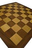 Tabuleiro de xadrez de madeira - ângulo largo Fotos de Stock
