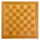 Tabuleiro de xadrez de madeira Foto de Stock Royalty Free