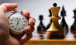 Tabuleiro de xadrez de madeira Fotografia de Stock