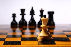 Tabuleiro de xadrez de madeira Fotografia de Stock Royalty Free