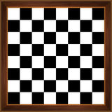 Tabuleiro de xadrez de madeira foto de stock