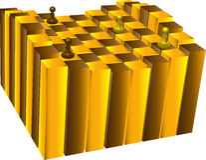 Tabuleiro de xadrez gravado ilustração stock