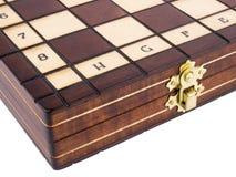 Tabuleiro de xadrez no fundo branco Fotografia de Stock