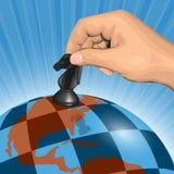 Tabuleiro de xadrez planetário ilustração do vetor