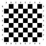 Tabuleiro de xadrez preto e branco ilustração royalty free