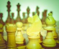 Tabuleiro de xadrez retro do olhar Fotografia de Stock Royalty Free