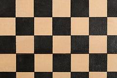 Tabuleiro de xadrez vazio velho Fotos de Stock Royalty Free