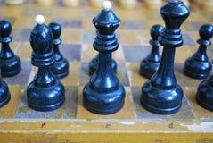 Tabuleiro de xadrez velho Fotografia de Stock