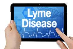 Tabuleta com doença de lyme do diagnóstico imagem de stock