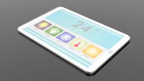 Tabuleta com a tela de controle remoto home esperta ilustração stock