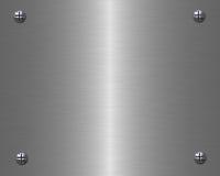 A tabuleta do metal Fotografia de Stock Royalty Free