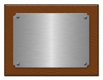 A tabuleta do metal prateado. Imagens de Stock
