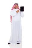 Tabuleta do Oriente Médio do homem imagem de stock royalty free