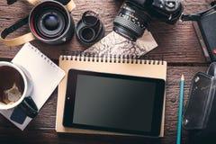 Tabuleta do ` s do fotógrafo Foto de Stock
