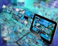 Tabuleta e imagens Imagens de Stock