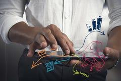 Tabuleta e tarefa do negócio Imagens de Stock