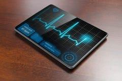 Tabuleta médica na tabela Fotografia de Stock Royalty Free