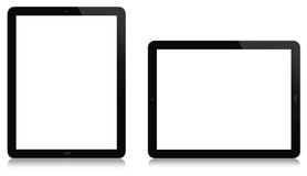 Tabuleta vertical e horizontal Imagens de Stock