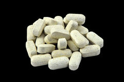 Tabuletas da vitamina/droga Fotografia de Stock