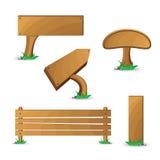 Tabuletas de madeira Foto de Stock