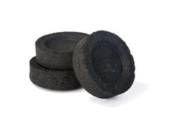 Tabuletas do carvão vegetal Imagem de Stock